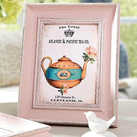 Aoligei European do old pink photo frame creative frame pendulum 18*23cm