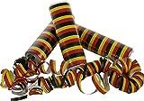 Home Collection - juegos, diversión, fiesta, cumpleaños, carnaval - conjunto de 3 rollos de serpentinas de papel de colores - multicolores, colores de Alemania - negro, rojo, amarillo - apto para adultos y niños - 13cm, Ø 3.5cm