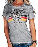 Stylotex Damen/Girlie T-Shirt So sehn Sieger aus Deutschland Flagge, Größe:M, Farbe:heather