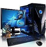 """VIBOX Apache 9S Gaming PC Ordenador de sobremesa con Cupón de juego, 22"""" HD Monitor (4,1GHz AMD FX 6-Core Procesador, Nvidia GeForce GTX 1050 Ti Tarjeta Grafica, 8GB RAM, 1TB HDD, Sin OS)"""