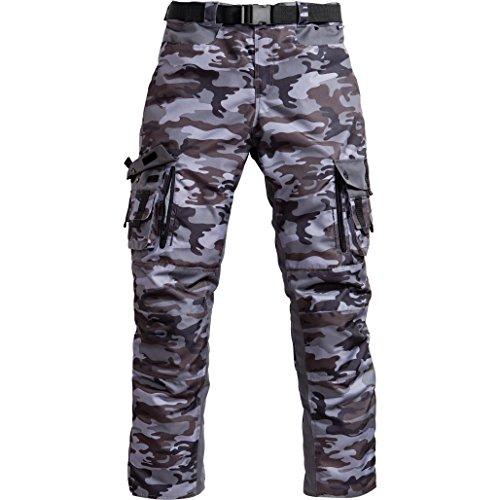Motorradhose Hellfire Motorradhose Herren mit Protektoren (Knieprotektoren) Textilhose Motorrad Herren 1.0, wasserdicht, winddicht, atmungsaktiv, camouflage, XL