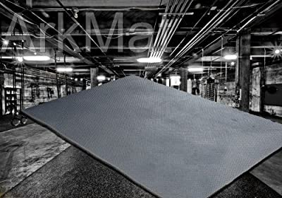 Heavy Duty Large Rubber Gym Mat Commercial Flooring 12mm Garage Flooring Natural EasySweep - low-cost UK flooring store.