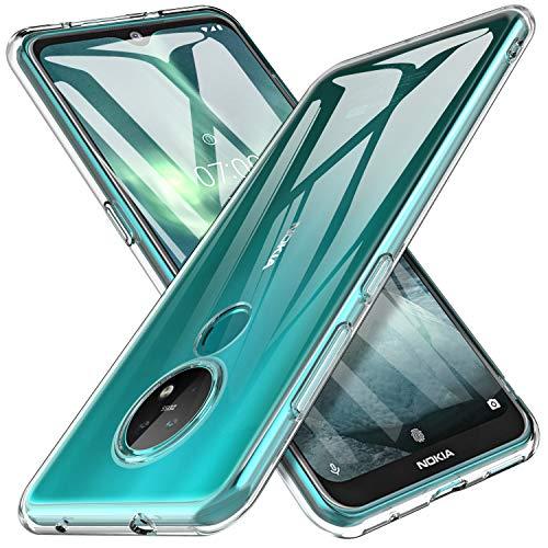 iBetter Coque pour Nokia 7.2 / Nokia 6.2, Soft Premium TPU Transparent, Anti-Slip, Résistant aux Rayures, pour Nokia 7.2 / Nokia 6.2 Smartphone.Transparent