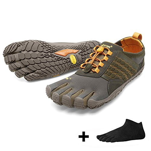 Vibram FiveFingers Trek Ascent Men + Zehensocke, Size:43;Color:Dark/Green/Pumpkin