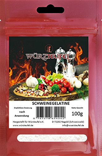 Gelatine, Schweinegelatine, Aspikpulver, Spitzenqualität aus der Schweiz. Beutel: 100g.