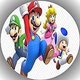 Fondant Tortenaufleger Tortenbild Geburtstag Super Mario N7