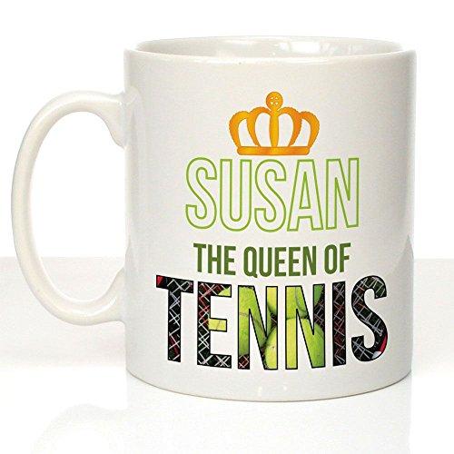 Personalisierter Becher the Queen of Tennis, Tischtennis Spieler, Geschenkidee, Geschenk für Sie