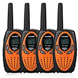 FLOUREON 4-pack Walkie Talkies Toys for Kids, 2 Way Radio with 8 Channel Long Range for Supermarket/Home/Indoor or Outdoor Activity (Orange)