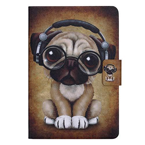 Ekakashop kompatibel mit ipad Mini 4 Hülle Schutzhülle,Cute Hunde Muster Flip Tablet Case Handytasche Ständer Smart Cover Tasche Etui Magnetverschluß kompatibel mit ipad Mini 1 2 3 4,EINWEG