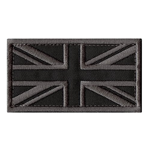 ACU Great Britain UK Union Jack Flag Subdued Morale Tactical Badge Army Embroidery Touch Fastener Patch