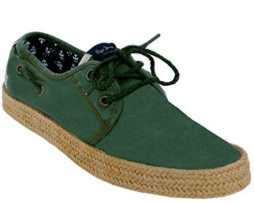 Pepe Jeans Herren Sailor Laces Espadrilles 765 khaki green
