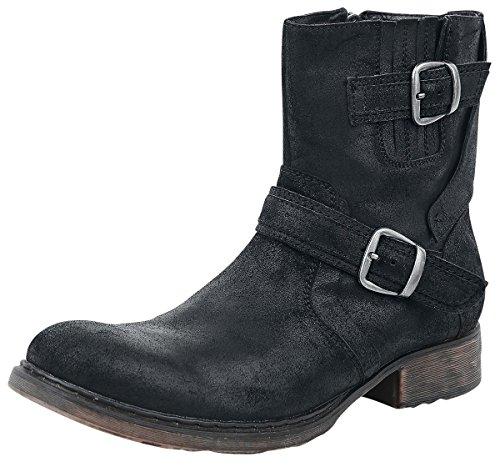 Black Premium by EMP Suede Boots Anfibi/Stivali nero EU45