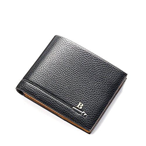 Ulisc Wallet Men Leather Wallets Male Purse Money Credit Card Holder Coin Pocket Brand Design Money Billfold Maschio Clutch (Billfold Holder Wallet Card)