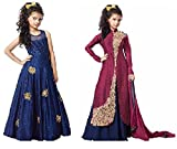 Dream Note Girl's Multi-Colored Banglory Silk semi-stitched Combo - Best Reviews Guide