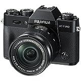 Fujifilm X-T20 Systemkamera mit XC16-50mm II Objektiv Kit (Touch LCD 7,6cm (2,99 Zoll) Display, 24,3 Megapixel APS-C X-Trans CMOS III Sensor) schwarz