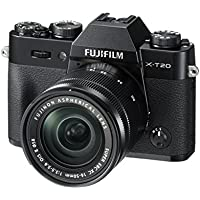 Fuji X-T20 24.3 MP 3-Inch LCD Camera with XC 16 - 50 mm MK II Lens Kit - Black