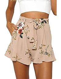 Été Unique Shorts décontractés Mode Plage Short Femme Short de Sport Casual  Yoga Fitness Elastique Short Mode… 3851ffd8c1b2