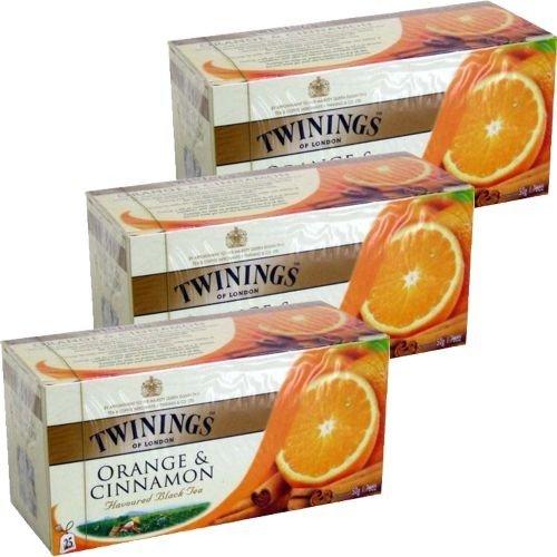 Twinings Teebeutel Orange & Cinnamon 3 x 25 Btl. (Orange & Zimt)
