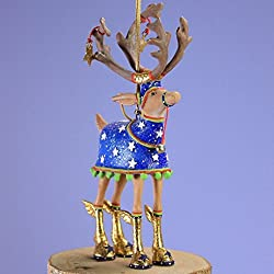 Patience Brewster Mini Dashaway Comet Reindeer Christmas Ornament By Patience Brewster Krinkles