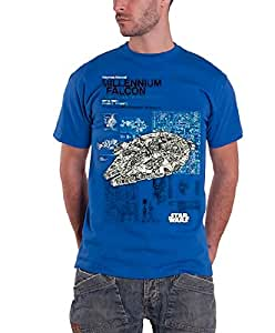 Official Star Wars Haynes Manual Millennium Falcon Adult T-Shirt Large