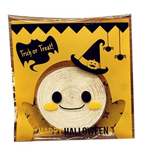 joyliveCY Halloween Taschen selbstklebend Cookie Staubbeutel Bakery Candy behandeln Geschenk DIY Staubbeutel #4