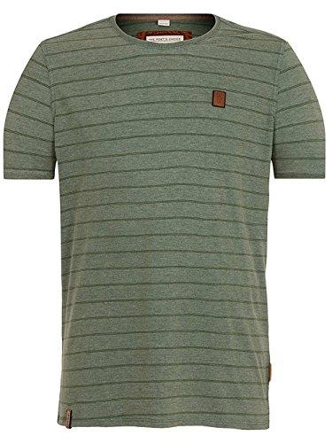 Naketano Male T-Shirt Schniedeldidida III heritage pine green melan