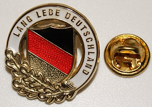 Lang lebe Deutschland schwarz rot gold Eichenlaub l Anstecker l Abz l Pin 14
