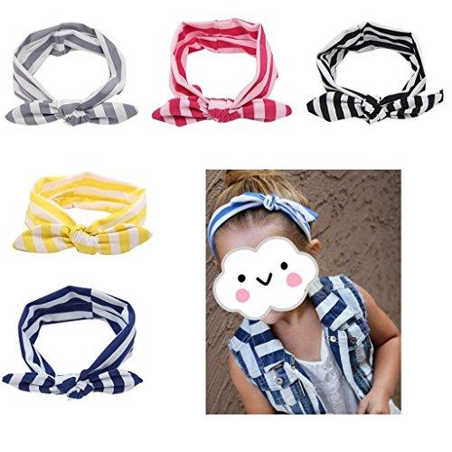 Ohren Stirnbänder Hairbands Streifen für Baby Kids (5 Stück) (Kostüme Für 15 Jährigen)