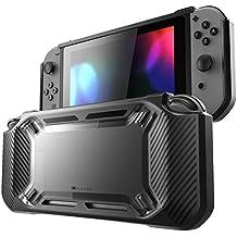 Mumba Hülle für Nintendo Switch, [Rugged] Gummiert Case Harte Schutzhülle Schwerlast Cover für Nintendo Switch 2017 Ausgabe (Schwarz)