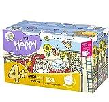 bella baby Happy Windeln Größe.4 + Maxi Plus, 1er Pack (1 x 124 Stück)