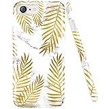 DOUJIAZ iPhone 7 Hülle,iPhone 8 Hülle, Glänzendes Gold-metallisches blätter Marmor Soft Silikon Schutz Handy Hülle Handytasche HandyHülle Case Cover Schutzhülle für iPhone 7/8