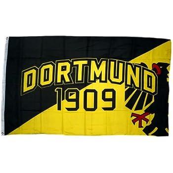 Dortmund Wappen Die Nr 1 aus dem Pott Fahne Fan Flagge  Hissfahne 150 x 90 cm