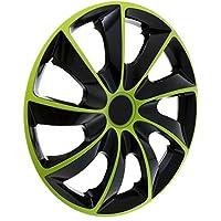 """KN3 Tapacubos 15"""" - Negro Verde - 4 piezas - 5902538440059"""