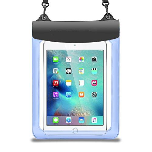 Blu custodia impermeabile per Samsung Galaxy Tab A 10.5/Galaxy Tab S410.5/Tab 2Advanced (sm-t583) 10.1/Acer Iconia One 10(b3-a50)/Teclast T20/M2010.1Tablet