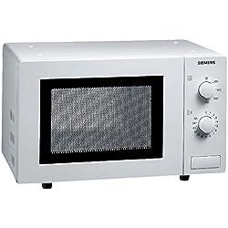 Siemens HF12M240 iQ100 Mikrowelle / 17 L / 800 W / einfache Bedienung durch mechanische Regelung / 5 Leistungsstufen / Innenbeleuchtung / Weiß
