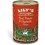 Lily's Kitchen Beef, Potato & Vegetable Dinner Complete Wet Food for Dogs 400g (Pack of 6)