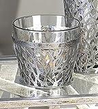 Windlicht Purley Metall/Glas, Höhe 9,5 cm