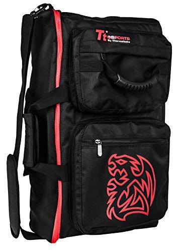 TT Esports Battle Dragon Backpack - Mochila para Gaming, Colour Negro/Rojo
