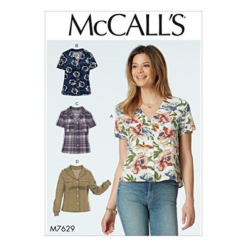 McCall's Patterns 7629A5, Oberteile Damen, Größen 6–14, Tissue, Multi/Farbe, 17x 0,5x 0,07cm