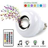 IDABAY Musique LED Ampoule Bleutooth avec Changement de Couleur Boule Coloré sans Fil Eclairage Décoration Musical