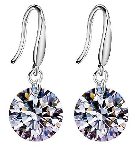 Yidarton 925 Silver Plating Diamond Crystal Elements Drop Earings for