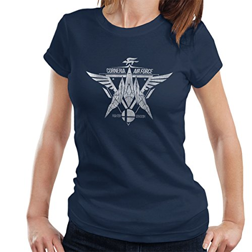 Star Fox Squadron Corneria Air Force Women's T-Shirt Navy blue