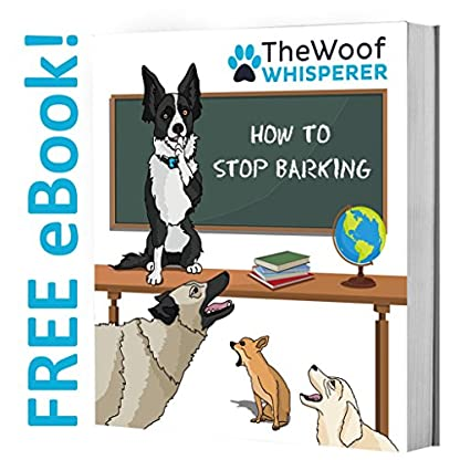 The Woof Whisperer Anti Bark Dog Collar Small Medium Large Dogs STOP BARKING No Shock Vibration Sound Training Collar… 3