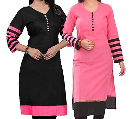 SARVAM FASHION Semi Stitched Combo Kurti For Women\'s Party Wear Cotton Fabric In Low Price [free size]