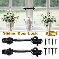 sycamorie Barn Door Lock - Stainless Steel Hook Lock Sliding Door Partition Door Lock Unique anti-slip design ensures maximum safety and safety.
