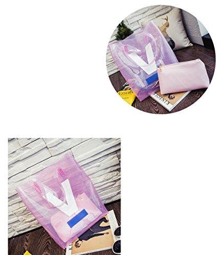 Wewod , Borsa da spiaggia  Unisex bambini Uomo Unisex adulto bianco 34cm*11cm*40cm Rosa