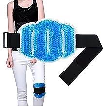 kühlkissen gel kühlpads Flexible Perlen Ice Pack für Hot & Cold Therapy - Für Nacken, Schulter, Taille und unteren Rücken, Waden, Knie, Knöchel - Ideal für Verletzungen, Verstauchung, anhaben