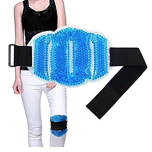 Flexible Beads Ice Pack para caliente y frío terapia–para cuello, hombros, cintura y parte inferior de la espalda, pantorrillas, rodillas, tobillo–gran para lesión, esguince, heridas