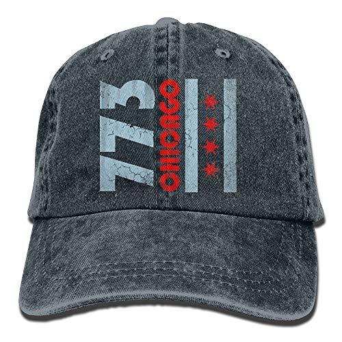 Xdevrbk Männer Frauen 773 Chicago Flag Denim Stoff Baseball-Mütze Einstellbar Street Rapper Hat Multicolor72