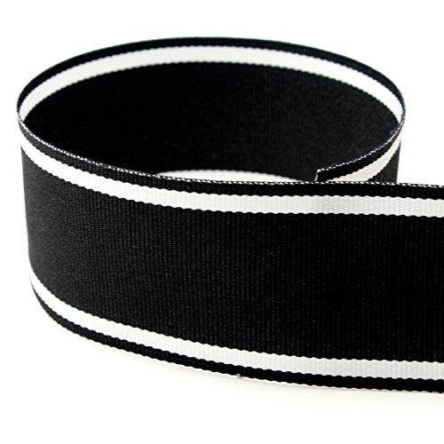 White Stripe Grosgrain (Preppy Ripsband-20yds, 45,72m &; 1-1/2